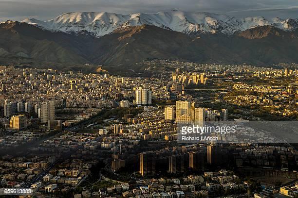 City & Alborz mountain range from Milad Tower