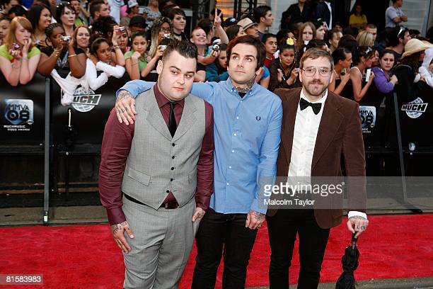 City and Colour arrive on the red carpet for the 2008 Muchmusic Video Awards held at Much world HQ at the City TV building on June 15 2008 in Toronto...