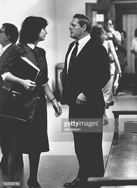 OCT 10 1984 OCT 11 1984 City and County Buster Snider with Terri Brake Defense Atty