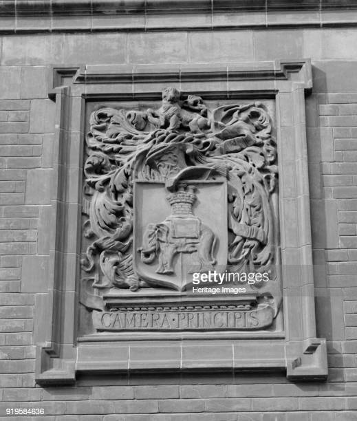 City and Guilds College Imperial College South Kensington London circa 1945circa 1980 Exterior detail showing a terracotta panel with an elephant and...