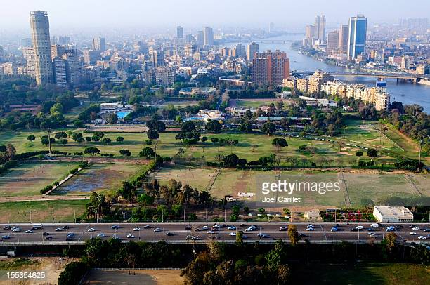cairo skyline in egypt - cairo stock pictures, royalty-free photos & images