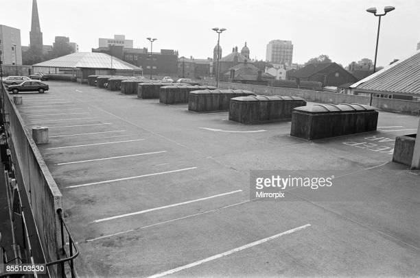 City Arcade rooftop car park and market roof Coventry 30th August 1985
