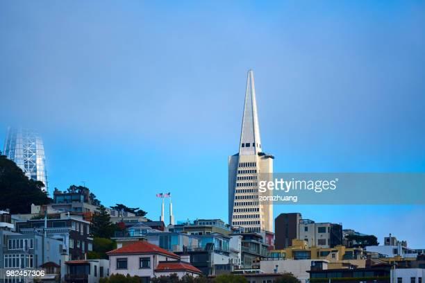 City Architecture and Transamerica Pyramid, San Francisco, USA