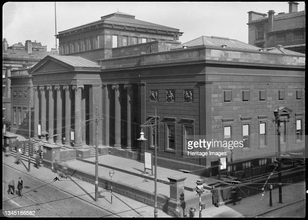 City Art Gallery, Mosley Street, Manchester, 1942. An exterior view of the City Art Gallery, formerly the Royal Manchester Institution, showing the...