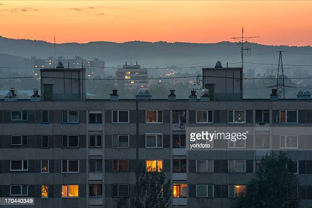 city at sunset - hungary stock pictures, royalty-free photos & images