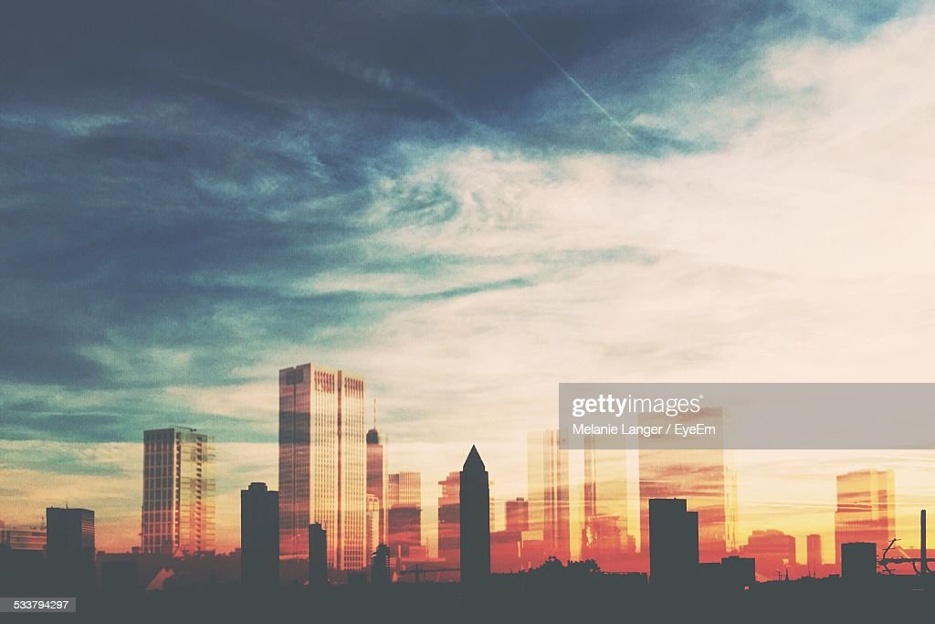 City At Sunset : Foto stock