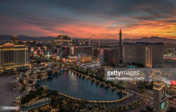 city at sunset - las vegas stock pictures, royalty-free photos & images