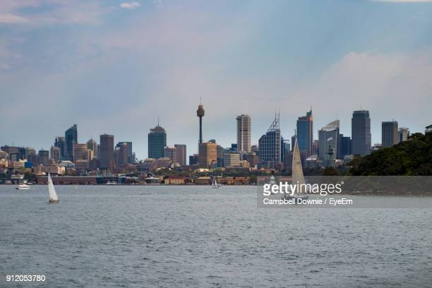 city at waterfront - campbell downie stock pictures, royalty-free photos & images