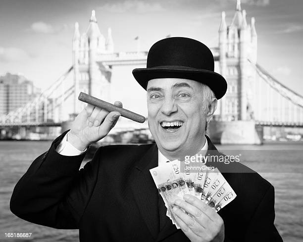 city banker - fat cat stock photos and pictures