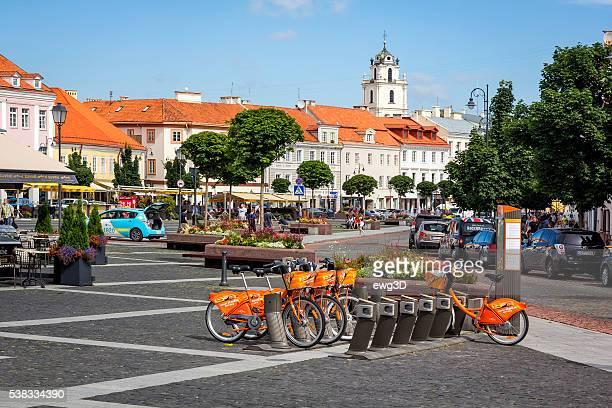 Stadt Fahrräder in Vilnius, Litauen