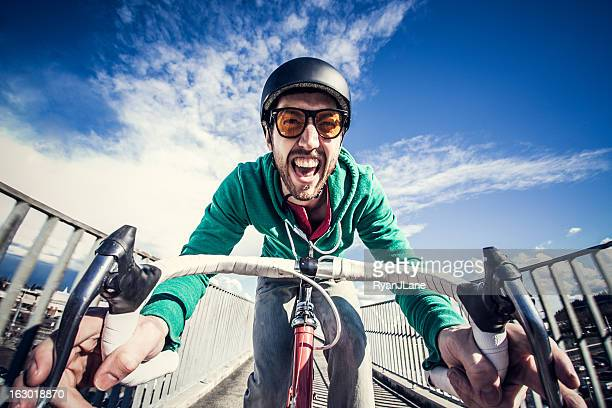 city bike commuter - cycling helmet stock pictures, royalty-free photos & images