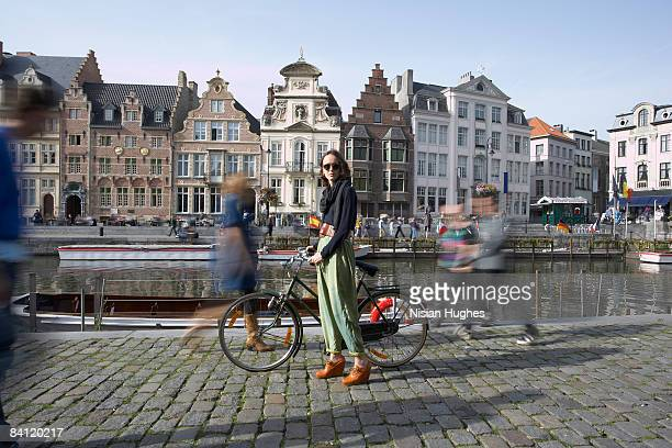 city bike ride - belgium stock pictures, royalty-free photos & images