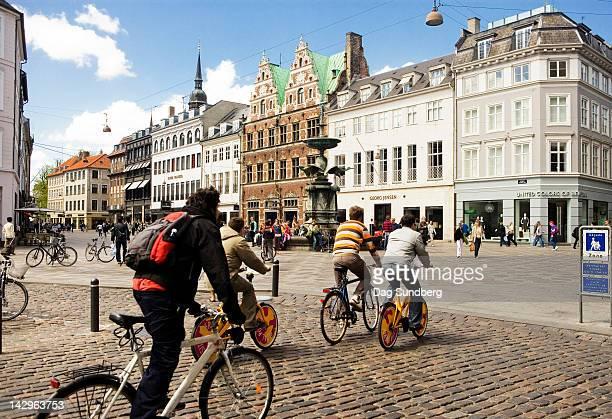 City bikers, Amagertorv in Copenhagen