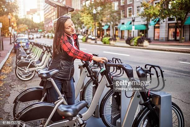Stadt Fahrräder zum Mieten
