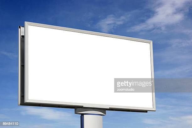 city blank billboard [with clipping paths] - tilt stock pictures, royalty-free photos & images