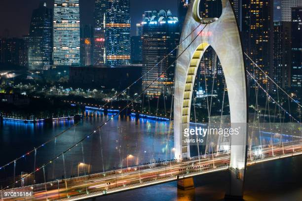 city bridge - guangzhou stock pictures, royalty-free photos & images