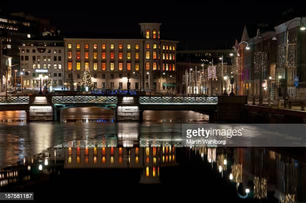 City bridge reflection