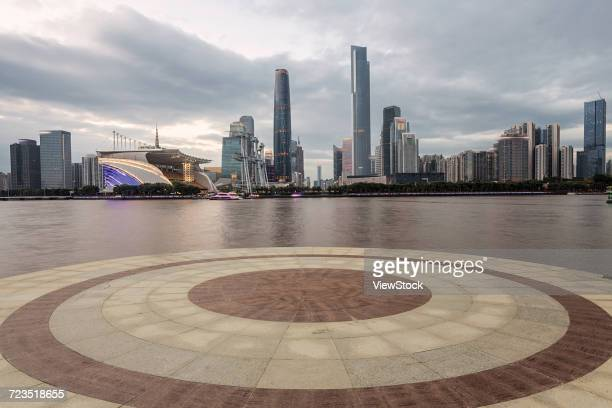 city building of guangzhou city,guangdong province,china - tianhe stadion stock-fotos und bilder