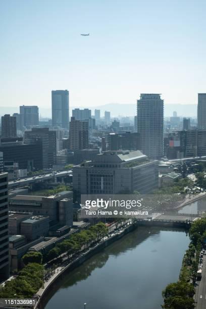 city buildings in nakanoshima in osaka - taro hama ストックフォトと画像