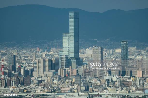 city buildings in osaka - taro hama ストックフォトと画像