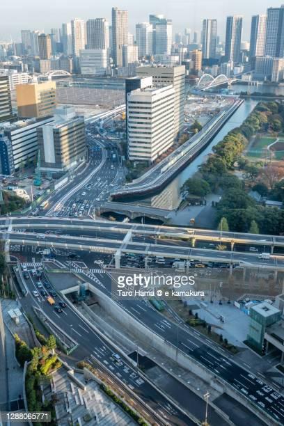 city buildings in tokyo of japan - taro hama ストックフォトと画像