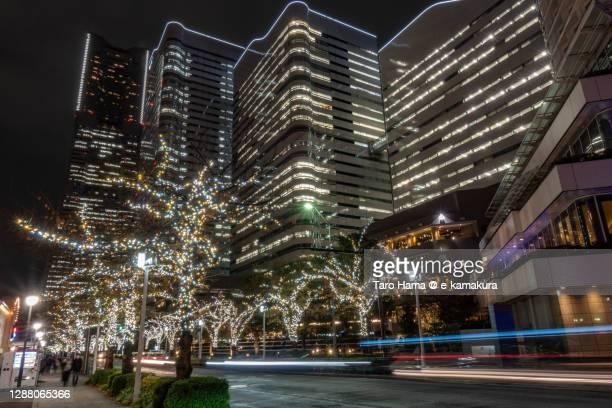 city buildings in yokohama city of japan - taro hama ストックフォトと画像