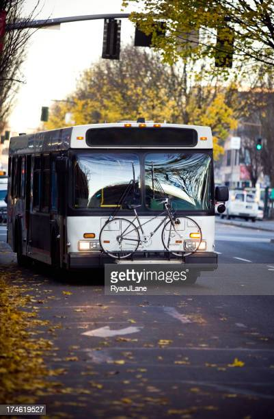 City Bus Driving It's Route