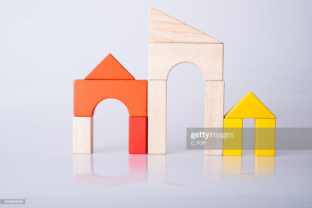 Stadt von little LEGOSTEINEN : Stock-Foto