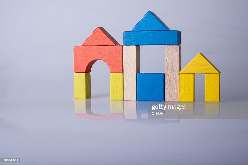 Città di little bricks : Foto stock