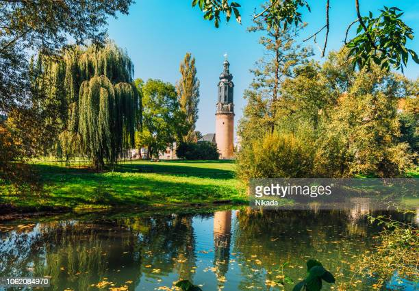 city castle and park in weimar, germany - thuringia stock pictures, royalty-free photos & images