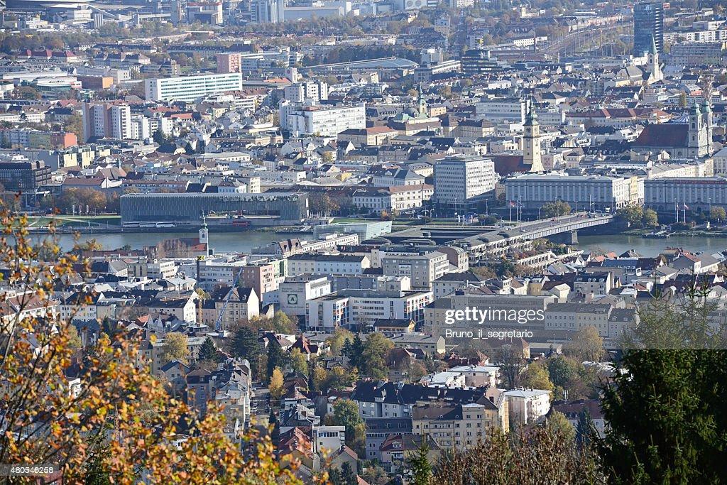El centro de la ciudad, la Alta Austria Linz : Foto de stock