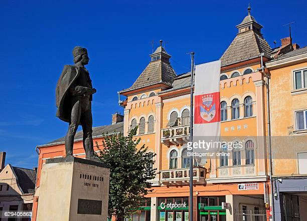 City center statue of Avram Iancu a Romanian lawyer and revolutionary Turda German Thornburg a town in Cluj in Transylvania Romania