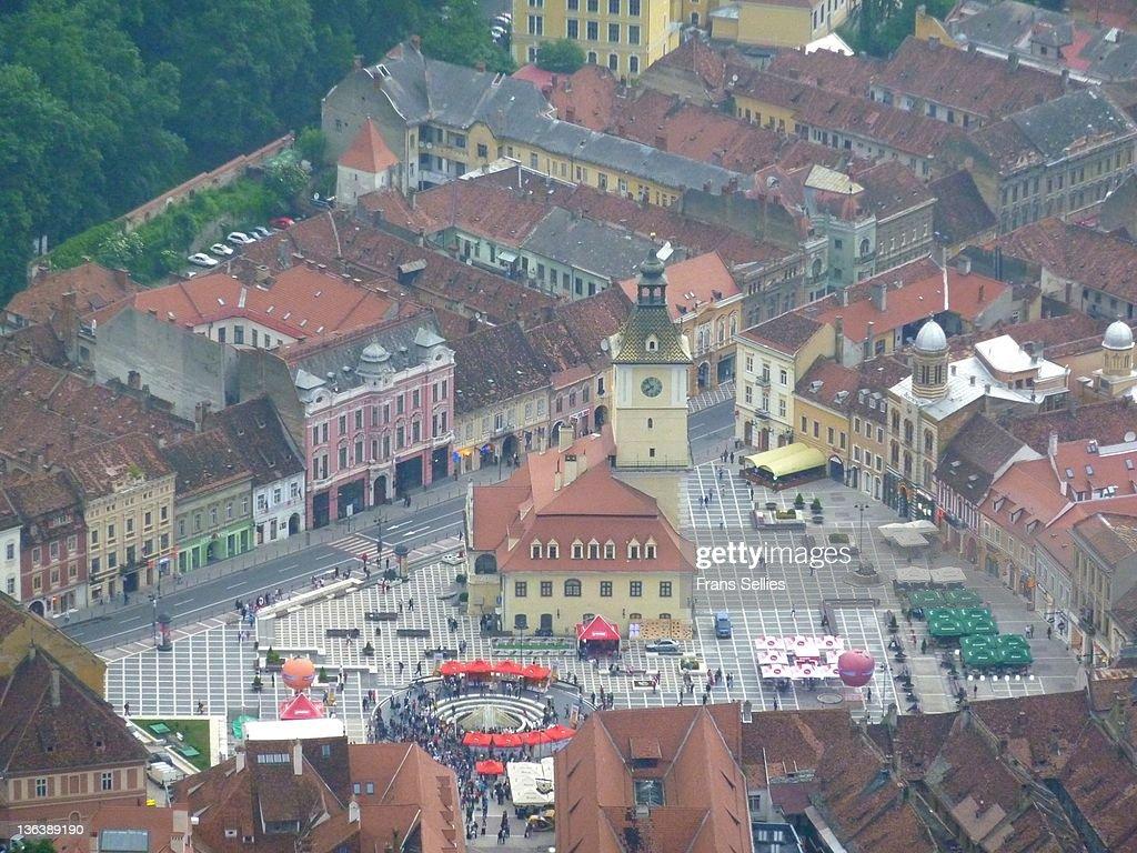 City centre of Brasov, Romania : Stockfoto