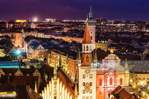City Centre of Munich at night