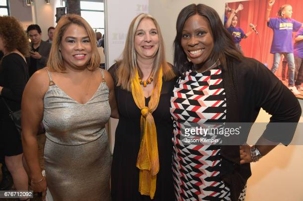 City Council Member Annabel Palma Executive Direcor Carla Precht and Council Member Vanessa L Gibson attend the Bronx Children's Museum Gala at...