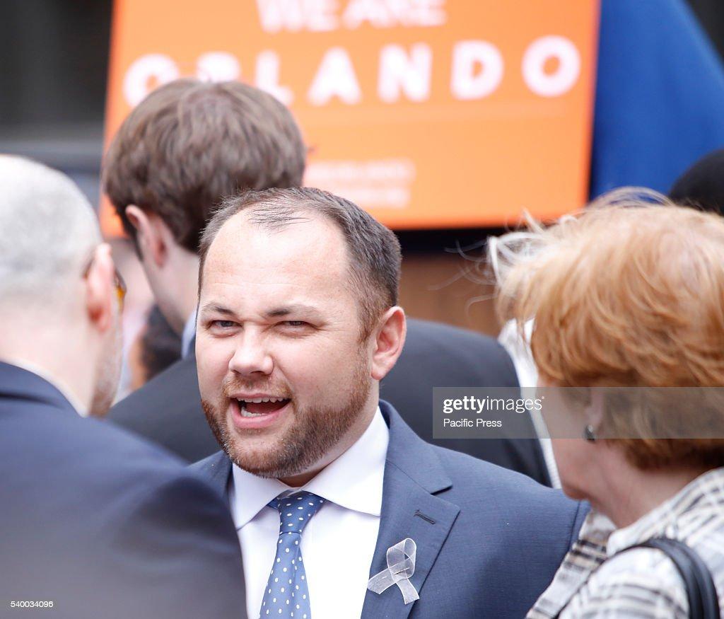 NYC city council member Corey Johnson. NY governor Andrew... : News Photo