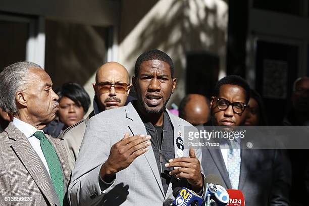 NY city council member Jumaane Williams addresses the press in Midtown Rev Al Sharpton gathered with members of the NYC City Council in Midtown...