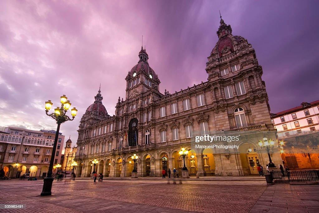 City council of La Coruna, Galicia, Spain : Stock Photo