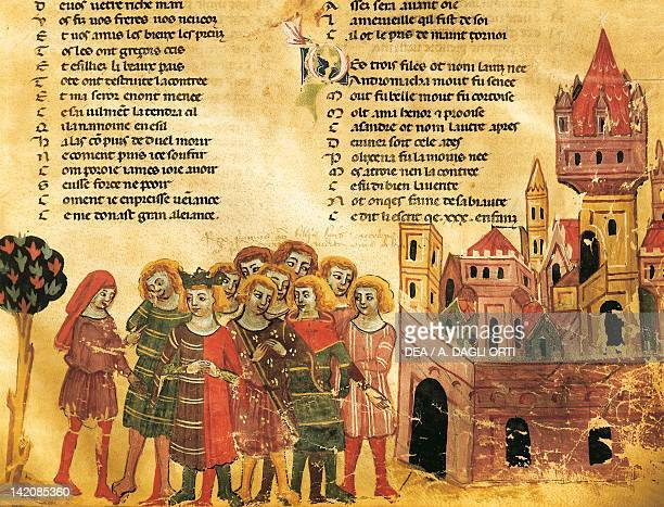 City Council of Nobles miniature from the Venetian School Italy 14th Century
