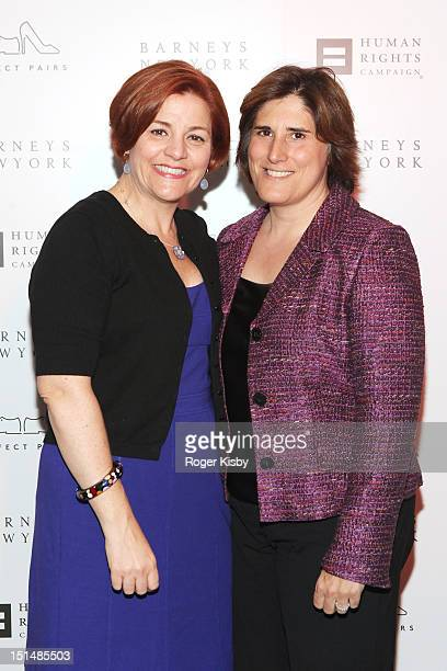 City Council speaker Christine C Quinn and Kim Catullo attend Barneys New York Cocktail Party Benefiting Americans For Marriage Equality Program>> at...