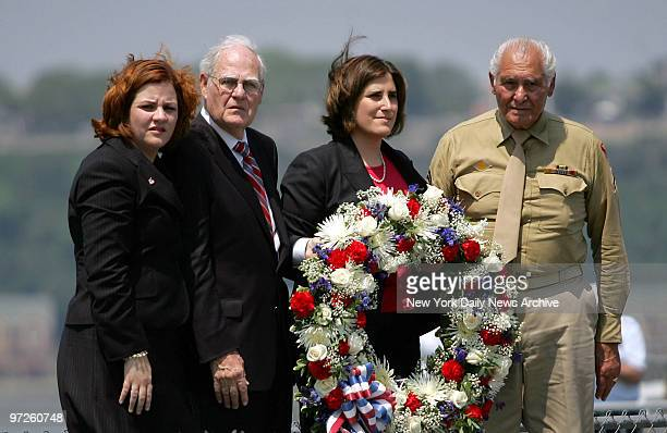 City Council Speaker Christine Quinn and her partner Kim Catullo are joined by their fathers Lawrence Quinn and Anthony Catullo as they prepare to...