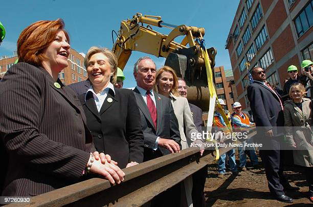 City Council Speaker Christine Quinn Sen Hillary Clinton Mayor Michael Bloomberg City Planning Director Amanda Burden and Rep Jerry Nadler join in...