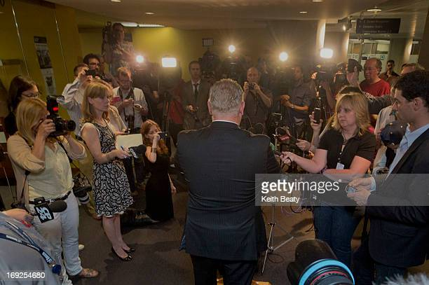 City Councillor Doug Ford speaking to media about allegations against his brother Toronto Mayor Rob Ford The mayor is facing allegations that he was...