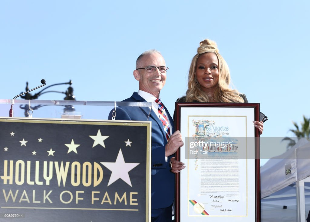Mary J. Blige Is Honored With A Star On The Hollywood Walk of Fame : News Photo