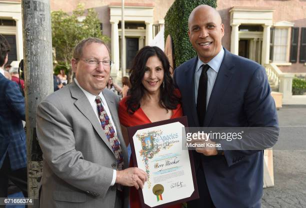 LA City Councilmember Paul Koretz HSUS Event Leadership Committee Member Cheri Shankar and Honoree United States Senator Cory Booker at The Humane...