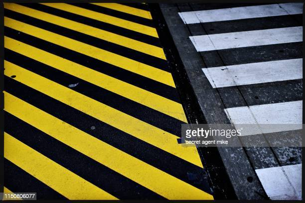 city crosswalk - crossing stock pictures, royalty-free photos & images