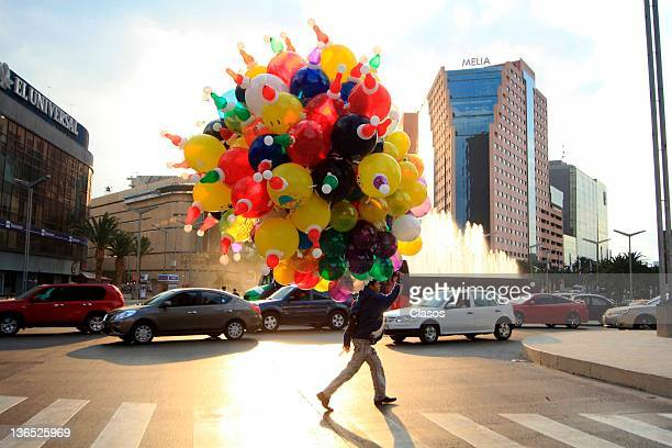 City dwellers during preparation of the tradition of Three Kings on January 5 2011 in Mexico City Mexico