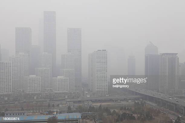 City dying in polution—beijing