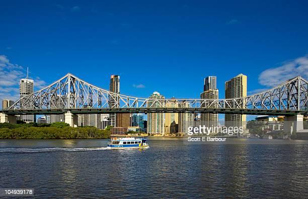 City Ferry  with skyline and Story Bridge
