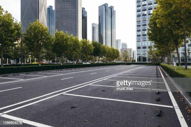 city financial district street at sunset - 金融と経済 ストックフォトと画像